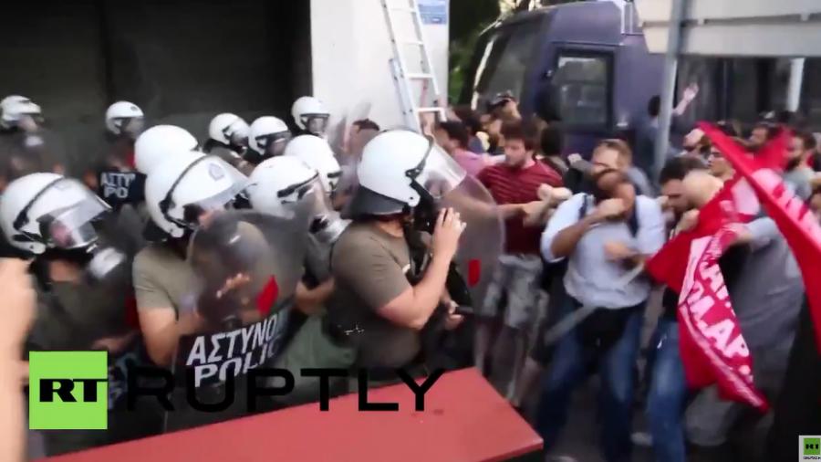 Griechenland: Zusammenstöße mit der Polizei vor EU-Büros