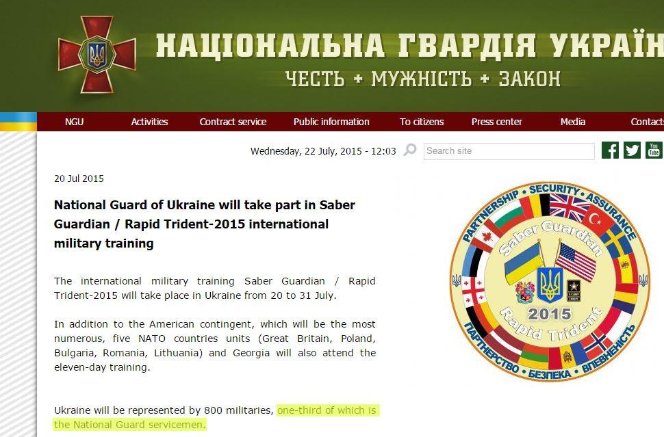 NATO-Manöver Rapid Trident 2015 in der Ukraine: Bundeswehr trainiert mit ukrainischen Neo-Nazi-Bataillonen