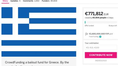 Schon 770.000 Euro gesammelt. Quelle: Screenshot indiegogo.com