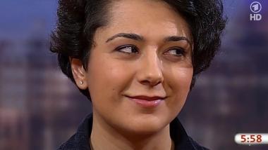 Träumt mal wieder von der Revolte: ARD-Korrespondentin und Euromaidan-Fan Golineh Atai. Bildquelle: Screenshot ARD