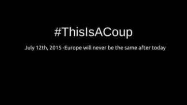 Der Hashtag #ThisIsACoup (