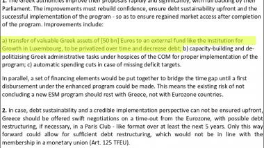 Auszug aus Schäubles Grexit-Papier: Die eigene