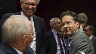 Die treibenden Kräfte hinter der Griechenlanderpressung: Wolfgang Schäuble (l.) und Jeroen Dijsselbloem (r.) / Bildquelle: Bundesfinanzministerium