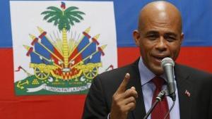 Unterstützt von den USA, regiert er seit Jahren per Dekret: Haitis Präsident Martelly - Quelle: Ruptly