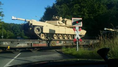 M1 Abrams Panzertransport durch Kiel