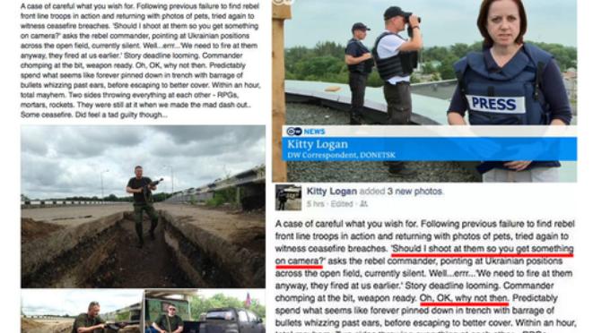 Einmal schießen für die Kamera? Deutsche Welle-Reporterin greift in Ostukraine aktiv ins Kampfgeschehen ein