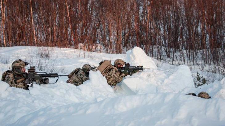 3. Kompanie des Jägerbataillons 292 aus Donaueschingen im Manöver-Einsatz in Norwegen 2014 - Foto: Bundeswehr / Schneider