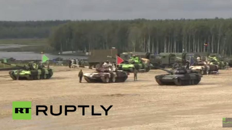 Live: Weltmeisterschaft im Panzer-Biathlon nahe Moskau unter Teilnahme von 13 Nationen