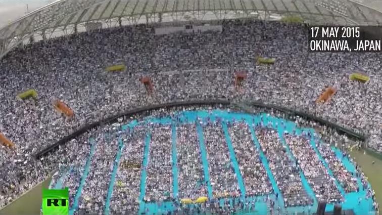 Umzug von US-Militärbasis in Okinawa - Tausende Japaner protestieren