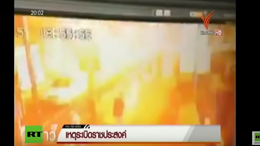 Thailand: Video zeigt Bombenanschlag in Touristenviertel in Bangkok