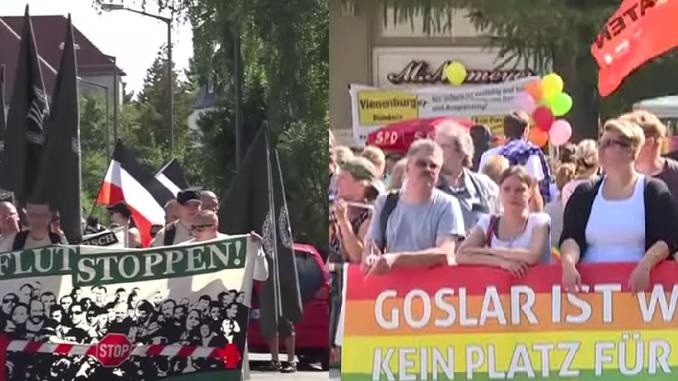 Samstag etliche Demonstrationen in Deutschland: Linke gegen Rechte – Pro-Asyl gegen Anti-Asyl