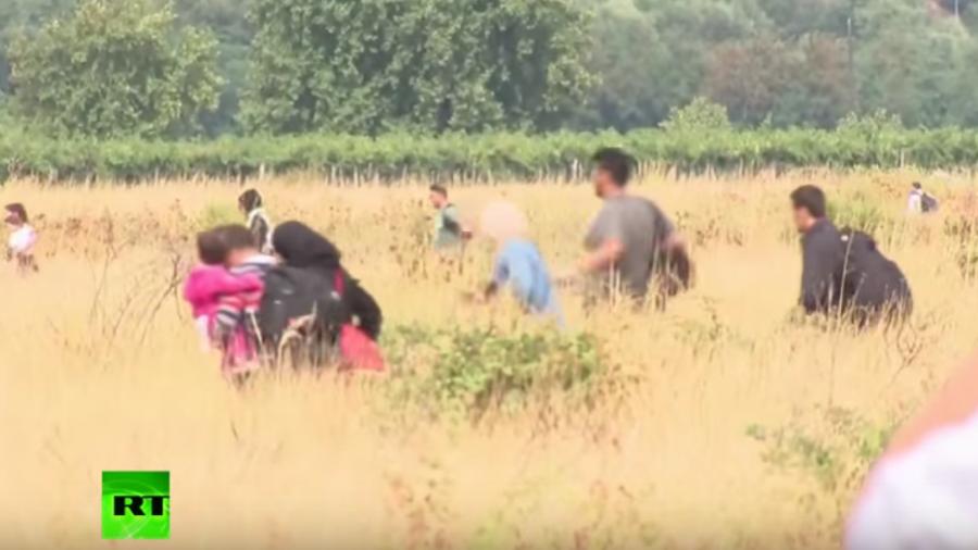 Flüchtlinge überqueren Grenze nach Mazedonien – Polizei setzt Tränengas und Blendgranaten ein