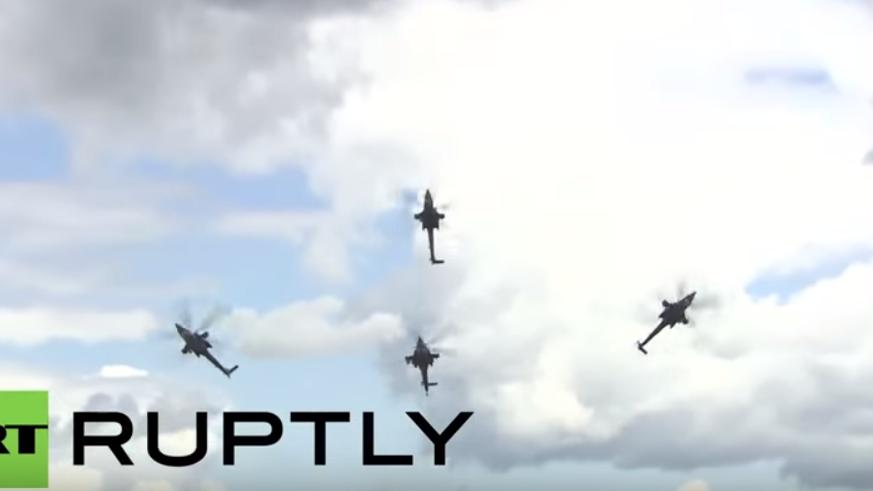 Russland: Video zeigt tragischen Hubschrauber-Absturz bei internationalen Armeespielen
