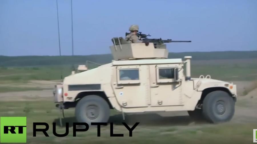Litauen: Gemeinsame Feuerübung mit US-Truppen unter Einsatz von Humvees