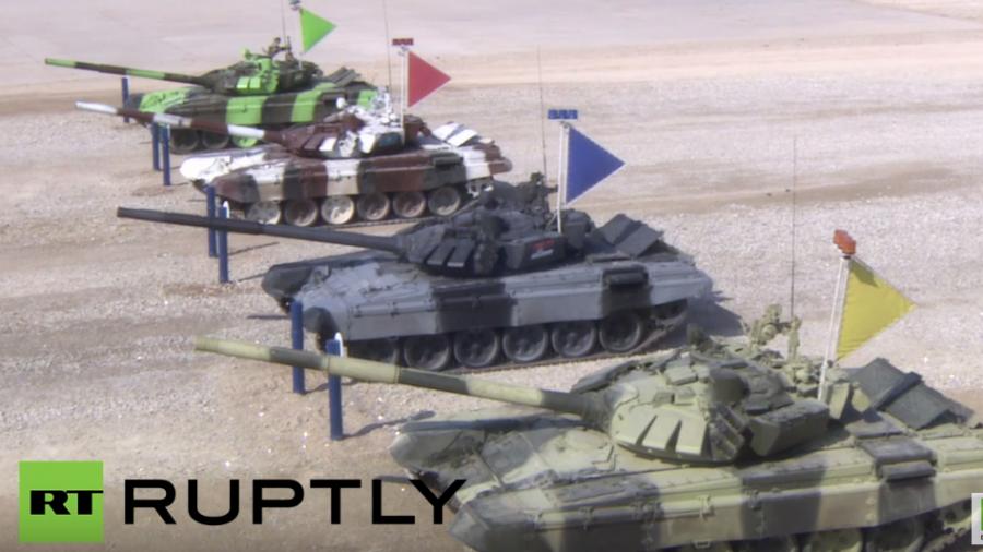 Live internationale Armeespiele in Russland – Halbfinale im Panzer-Biathlon