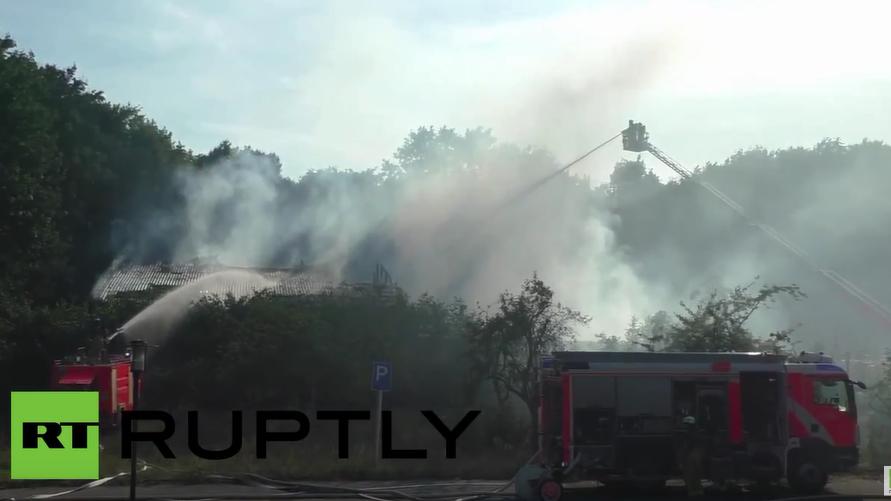 Diesmal in Berlin: Einen Tag nach dem Brandanschlag in Nauen brennt es schon wieder bei Flüchtlingen