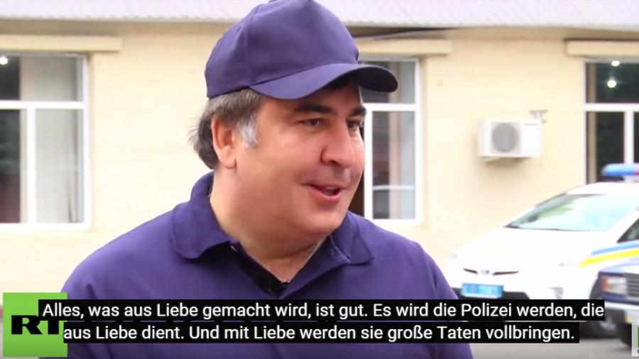 Saakaschwilis Geheimrezept für neue Polizei in Odessa ist ganz viel Liebe