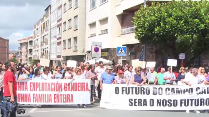 Jetzt gehen auch die spanischen Landwirte auf die Straße