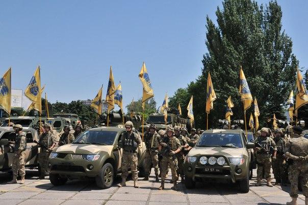"""""""Bereit für neue Kämpfe in der Ostukraine"""" - Quelle: Screenshot http://vk.com/batalion.azov"""