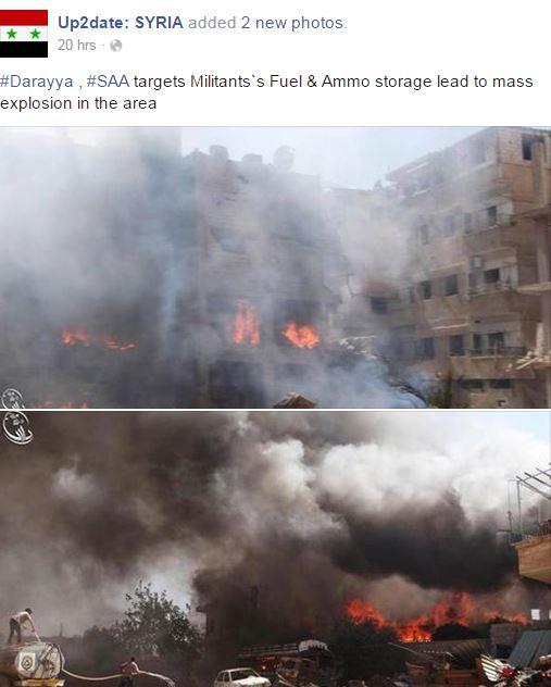 """Wie die BILD-Zeitung brennende Munitions- und Treibstofflager der FSA zu """"Assads Chemiebomben-Angriff"""" umdichtet"""