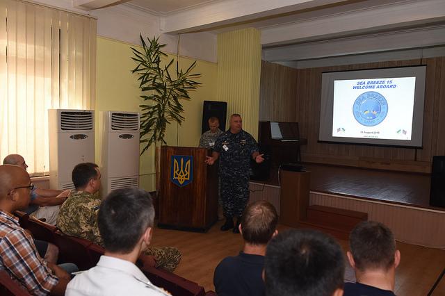 Einführung zum NATO-Seemanöver Sea Breeze 2015 in der Ukraine - Quelle: Commander, U.S. Naval Forces Europe-Africa/U.S. 6th Fleet