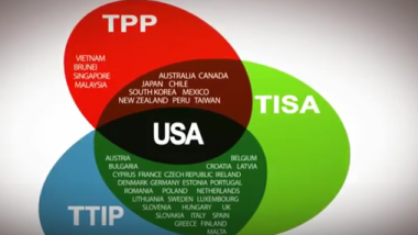 Im Zentrum der drei geplanten Freihandelsabkommen profitieren die USA. Bildquelle: WikiLeaks