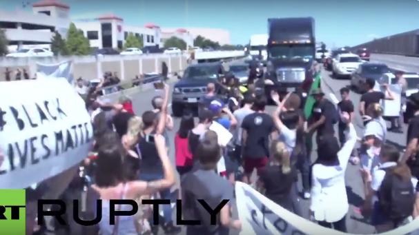 USA: Pfefferspray und Verhaftungen bei Black Lives Matter Demo in Texas