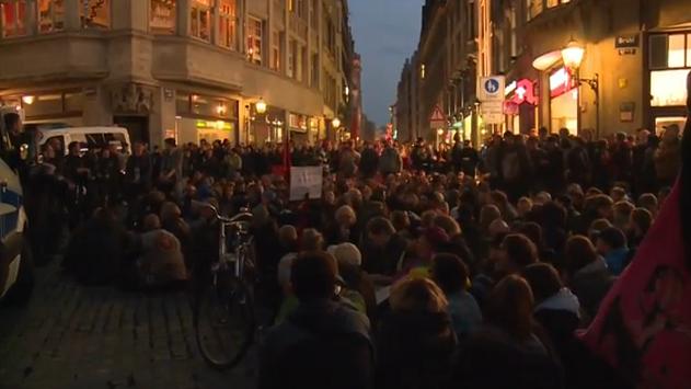 Antifa 'empfängt' LEGIDA in Leipzig