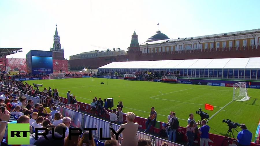 Live: Zeremonie auf dem Roten Platz - Noch 1.000 Tage bis zur Fußball-WM