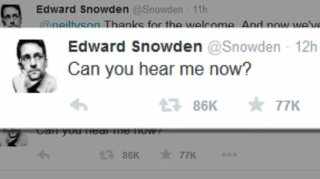 """Can you hear me now?"" - Edward Snowden jetzt auf Twitter"