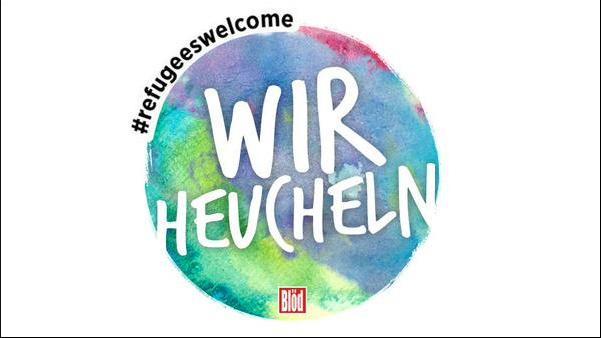 """Leicht abgewandeltes Logo der BILD-Kampagne """"Wir helfen""""."""