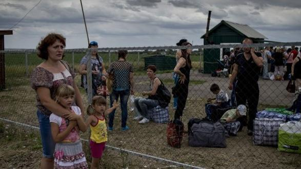Ukrainische Flüchtlinge. Foto: RIA Novosti/Valeriy Melnikov