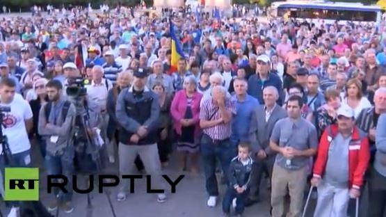 Live aus Kischinau, der Hauptstadt Moldawiens: Anti-Regierungs-Protest geht weiter