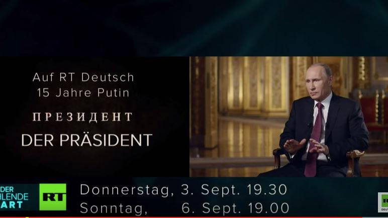 """Nicht verpassen! RT Deutsch zeigt am Sonntag um 19 Uhr zum letzten Mal die Putin-Doku """"Der Präsident"""""""