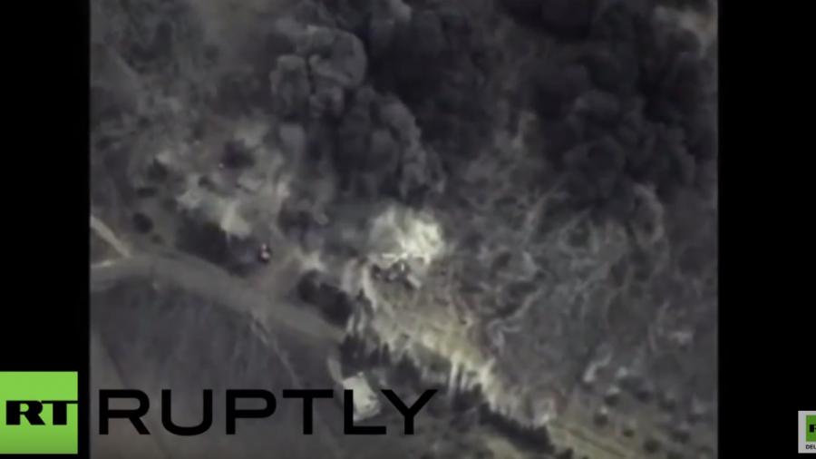 Syrien: Erste Aufnahmen russischer Luftschläge gegen IS-Positionen veröffentlicht