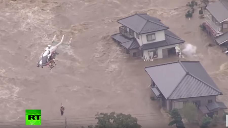 Hochwasser-Katastrophe in Japan – Hunderte Tonnen verseuchtes Fukushima-Wasser fließen ins Meer