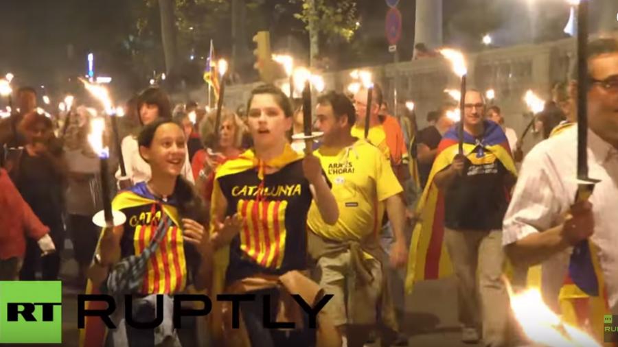 Live: Hunderttausende zu katalanischer Unabhängigkeis-Demonstration in Barcelona erwartet