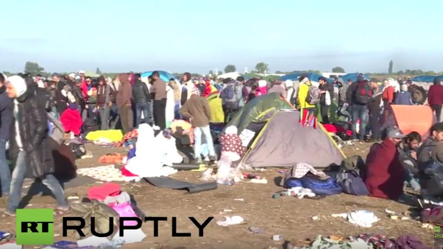 Live aus Röszke, wo tausende Flüchtlinge an der Grenze zu Serbien ausharren