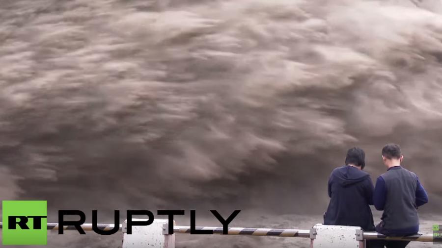Taifun in Taiwan: 30 Millionen Kubikmeter Hochwasser binnen Minuten abgelassen