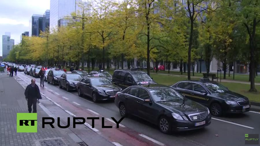 Brüssel: Taxifahrer rufen wegen US-Fahr-App 'Uber' zu massivem Protest auf