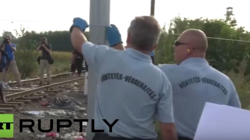 Live aus Röszke - Ungarn schließt letzten offenen Grenzabschnitt zu Serbien