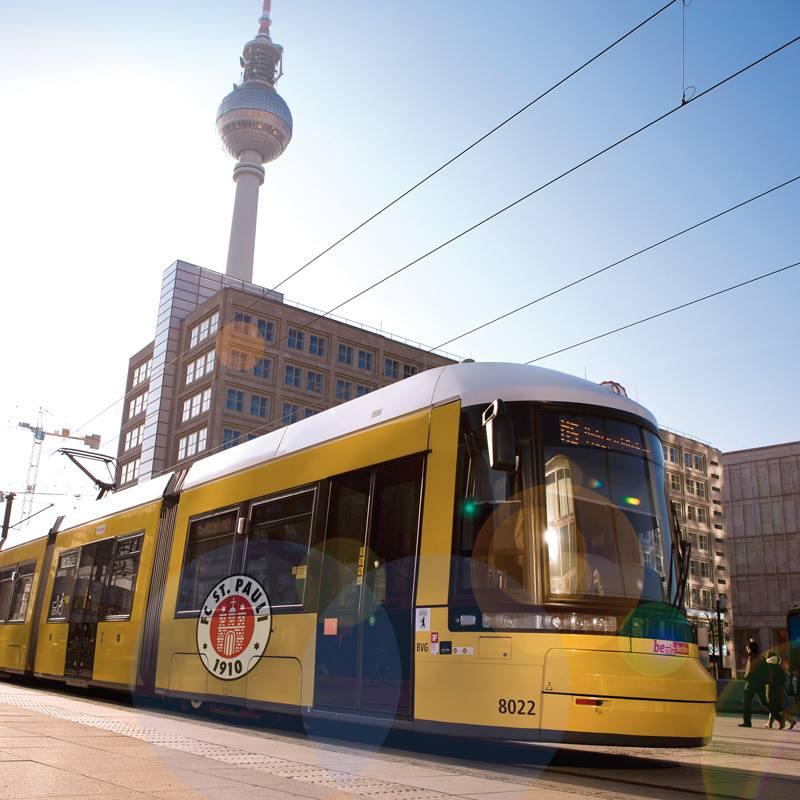 Die Berliner Verkehrsbetriebe zeigen sich solidarisch mit dem FC St. Pauli. Quelle: BVG/Facebook