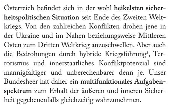 """Textauszug: Monika Donner - """"God bless you, Putin! - Strategische Analyse inklusive rechtlicher Beurteilung der sicherheitspolitischen Lage Europas am Beispiel Österreich"""""""