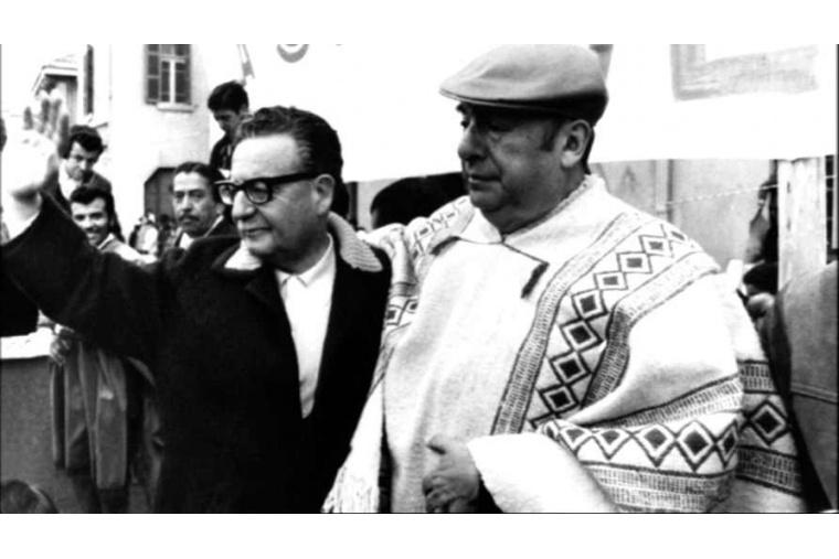 Allende und der chilenische Dichter und Literaturnobelpreisträger Pablo Neruda - Quelle: cubadebate.cu