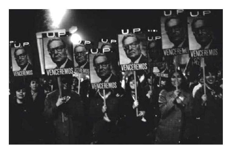 Unterstützer Allendes demonstrieren nach dem ersten Putschversuch im Juni 1973 - Quelle: cubadebate.cu
