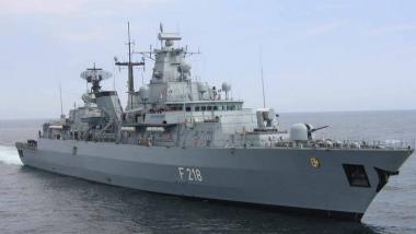 Bald im Einsatz gegen Flüchtlinge? Deutsche Fregattte. Bildquelle; alureiter CC BY-SA 3.0