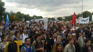 Mobilisierungserfolg in Ramstein. Rund 1500 Demonstranten kamen zur Protestaktion