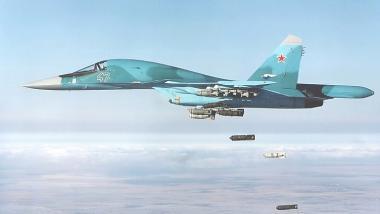 Russischer Jagdbomber Su-34 im Einsatz - Quelle: http://www.ausairpower.net/