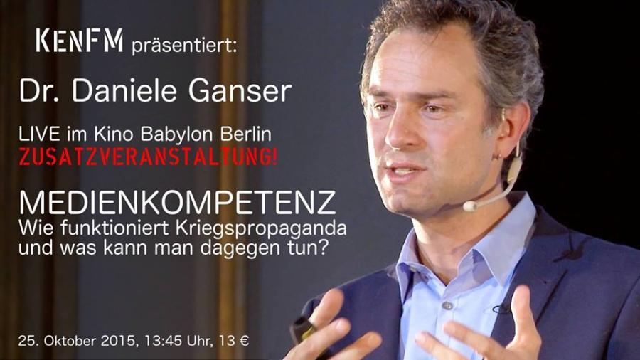 Dr. Daniele Ganser in Berlin: RT Deutsch verlost die letzten verfügbaren Eintrittskarten