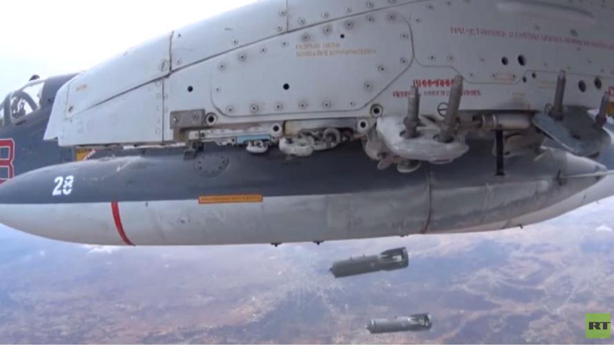 Russische Luftschläge zerstören Raketenstellung des IS und führen zu massiven Fluchtbewegungen der Dschihadisten